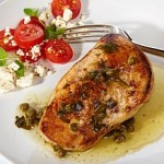 Chicken breast with piccata sauce