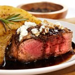 Filet mignon with balsamic sauce