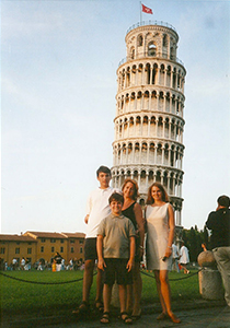 Lisa and Family in Italy