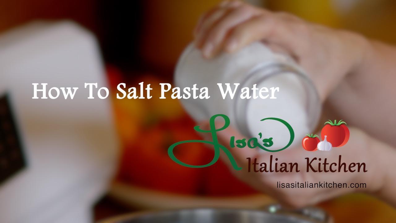 How to Salt Pasta Water